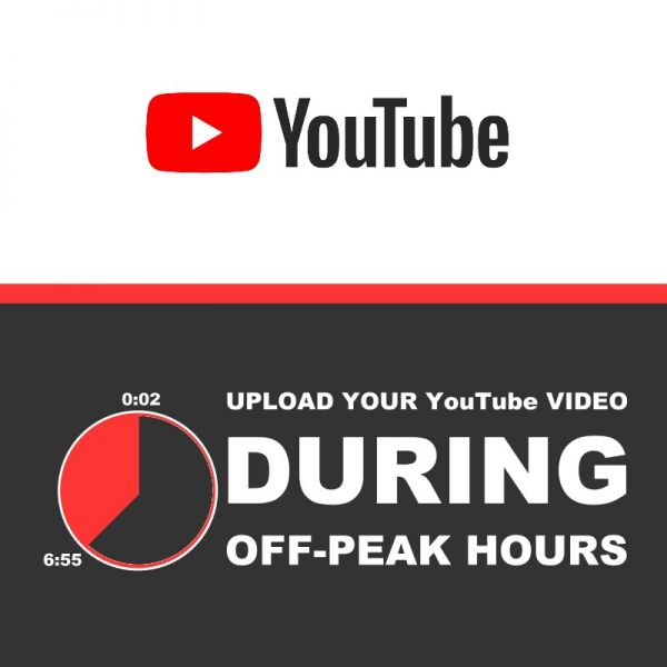 How to upload videos to Youtube during off peak hours